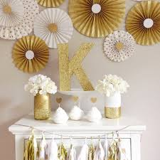 backdrop mint and gold paper fan backdrop set of 9 gold and