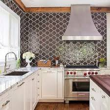 backsplash kitchen tiles brown moroccan kitchen backsplash design ideas