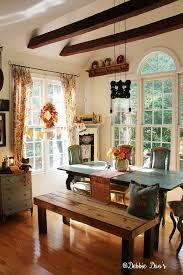 country rustic fall decorating with florals and texture debbiedoos