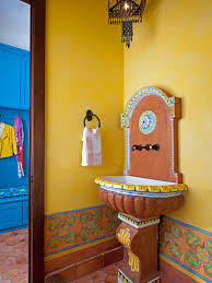 Orange Powder Room Southwestern Bathroom Design And Decor Hgtv Pictures Hgtv