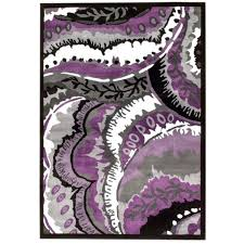 Modern Purple Rugs Bungalow Alize Modern Purple Area Rug Reviews Wayfair