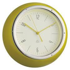 wall watch delia yellow metal wall clock buy now at habitat uk