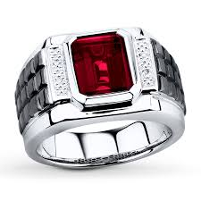 mens rings ruby images Men 39 s lab created ruby diamond accents sterling silver ring jpg