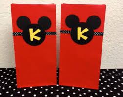 mickey mouse favor bags mickey goodie bags etsy