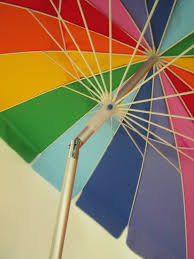 8 Foot Patio Umbrella by Amazon Com Beach Umbrella Rainbow Color With Carry Bag 8 Foot
