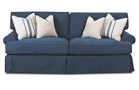 Klaussner Fabrics Sofa With Blend Down Cushions By Klaussner Wolf And Gardiner