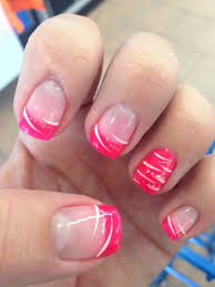nail polish design pink nice color purple or black would work