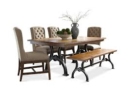 arlington house trestle table with 4 chairs and bench hom furniture