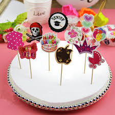 cake toppers birthday 12pcs pack paper cake topper birthday party cupcake food picks