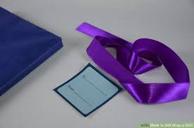 purple gift wrap how to gift wrap a dvd 7 steps with pictures wikihow