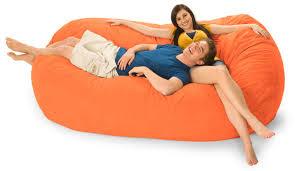 7 5 foot mojobagz foam filled bean bag sofa ms 7ov