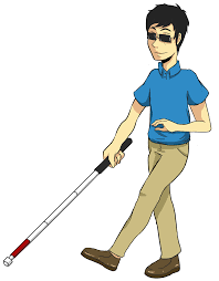 Blind People Stick Blind People Clipart Clipartxtras