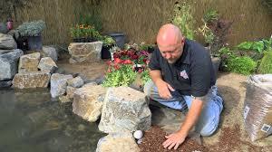 how to build a fish pond part 20 pond edging u0026 landscape