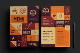 menu template free craft menu template for photoshop illustrator brandpacks