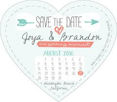 create your own heart shaped save the date magnettruly engaging