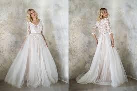 blush wedding dress with sleeves wedding dress blush wedding dress bridal gown tulle wedding