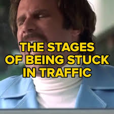 Traffic Meme - buzzfeed sweaty the stages of being stuck in traffic