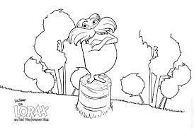 dr seuss lorax standing chopped tree coloring pages