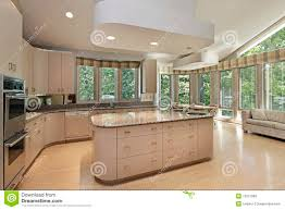 kitchen with center island large kitchen with center island stock photography image 19321982
