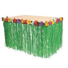 Amazon Fun Express Hawaiian Luau Hibiscus Green Table Skirt