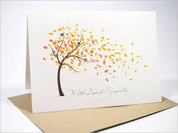condolences card sympathy card template 17 free sle exle format