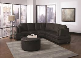Home Goods Ottoman by Innovative Curved Leather Sectional Sofa 100 Delta Chocolate Brown