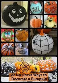 Halloween Pumpkin Decorating Ideas No Carve Pumpkin Decorating Ideas