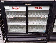 coca cola fridge glass door used true refrigerator ebay