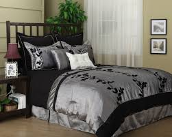 Black Comforter King Wendy Silver Black 7 Piece Comforter Set Bed In A Bag King Queen