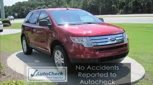 ford crossover 2007 edge 2007 ford edge red suv one owner local trade no accidents