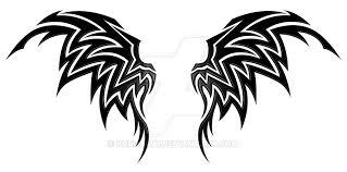 wings tribal by kuroakai on deviantart