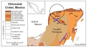 Map Of Yucatan Chicxulub Impact Event
