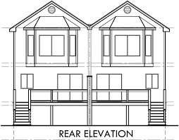 House Plans With Dual Master Suites by Narrow Row House Plans Duplex House Plans Two Master Suites