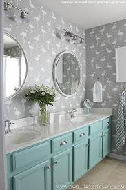 bathroom stencil ideas wall stencils the secret to remodeling your bathroom on a budget