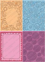 provo craft cuttlebug embossing folder bundle two a2