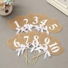 numero table mariage pack de 10 toile de jute drapeaux table numéros cru rustique de