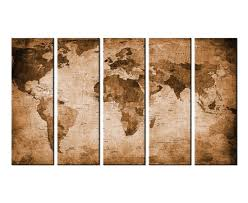 How To Hang Art Prints Amazon Com Canvas Wall Art Vintage World Map Canvas Prints Framed