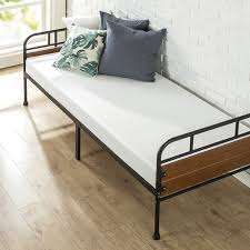 Foam Bed Frame Latitude Run Townsel Narrow Frame Day Bed With Foam Mattress