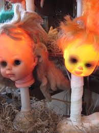 halloween eye lights creepy halloween doll head lights pictures photos and images for