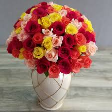 roses bouquet send 100 roses bouquet rainbow mix in miami florida roses