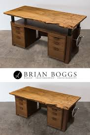 solid wood executive desk with adjustable hand crank brian boggs