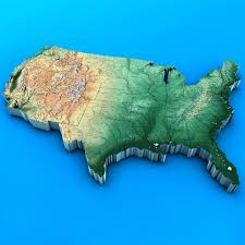 Usa Map Outline by 3d Map Of United States Stock Photo Picture And Royalty Free Us