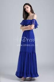royal blue ruffled off the shoulder casual maxi miranda kerr prom