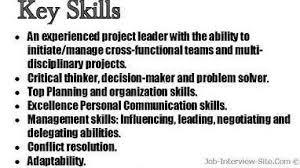 resume skills examples list leadership skills on resume cna