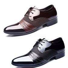 wedding shoes office men s leather formal office work smart shoes casual pointed toe