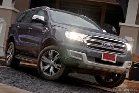 Ford Everest Facelift Ford Everest U2013 Suv To Rival Toyota Prado Not Fortuner