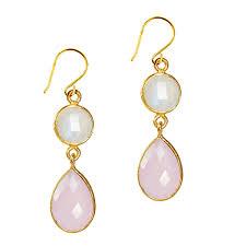ch earrings bel earrings moonstone pink chalcedony