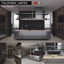 3d kitchen bluna laccato model