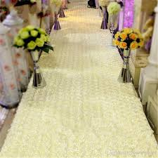 ivory aisle runner hot selling white 3d petal aisle runner carpet 1 4m wide 10