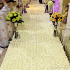 white aisle runner hot selling white 3d petal aisle runner carpet 1 4m wide 10